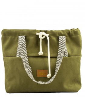 SHOPPER BAG BAGGERKA ECO-SUEDE OLIVE