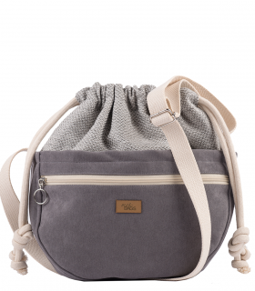 CROSSBODY BAGS ECO SUEDE GREY