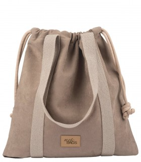 LARGE BAGGY BAG ECO-SUEDE TAUPE