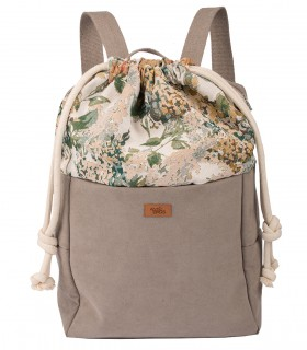 WOMEN'S BACKPACK DUO ECO-SUEDE TAUPE BLOOM