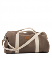 "SPORT AND TRAVEL BAG ""WEEKENDER"" ECO SUEDE TAUPE"