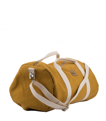 """SPORT AND TRAVEL BAG """"WEEKENDER"""" ECO SUEDE YELLOW"""
