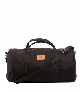 "SPORT AND TRAVEL BAG ""WEEKENDER"" ECO SUEDE BLACK"
