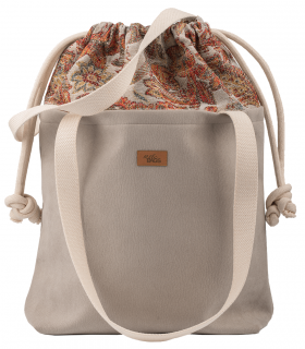 "SACK BAG ""DUOBAG"" eco suede grey boho"