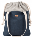 "SACK BAG ""DUO BAG"" FABRIC NAVY"