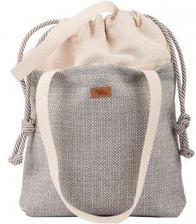"SACK BAG ""DUOBAG"" FABRIC CREAM-GRAY MELANGE"