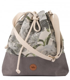 BUCKET BAG gray roses