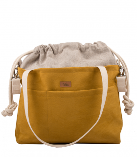 "MOM BAG ""ME&BABY"" ECO SUEDE YELLOW"