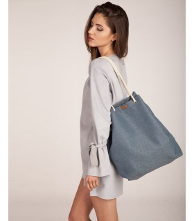 Tkaninowa torebka basic me 15 niebieska