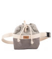 Women's kidney bag eco-suede grey