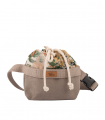WOMEN'S KIDNEY BAG ECO-SUEDE TAUPE BLOOM