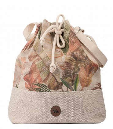 Bucket Bag LINEN IN LEAVES