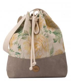 Bucket Bag linen roses