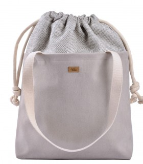 "SACK BAG ""DUO BAG"" eco suede light grey"