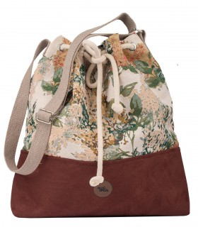 "Torebka worek ""BUCKET BAG"", kolor bordo bloom"