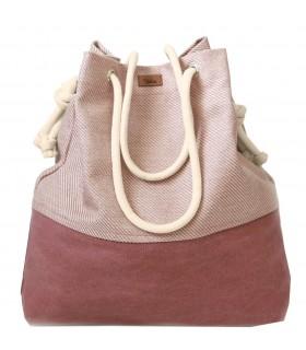 Tkaninowa torebka basic me 15 różowa