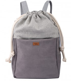 WOMEN'S BACKPACK DUO ECO-SUEDE GRAY