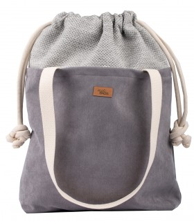 "SACK BAG ""DUO BAG"" eco suede grey"