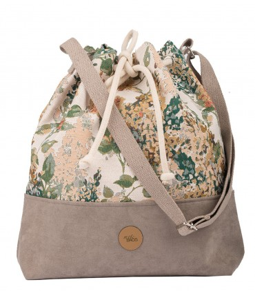 "Torebka worek ""BUCKET BAG"", kolor taupe bloom"