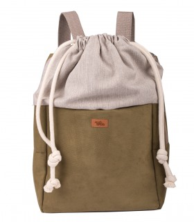 WOMEN'S BACKPACK DUO ECO-SUEDE OLIVE
