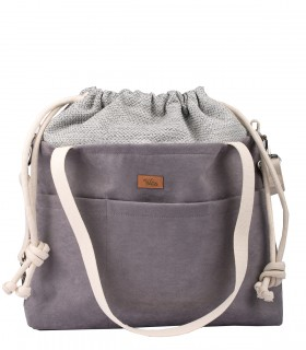 "MOM BAG ""ME&BABY"" ECO SUEDE GREY"