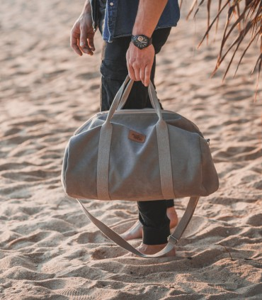 """SPORT AND TRAVEL BAG """"WEEKENDER"""" ECO SUEDE TAUPE"""