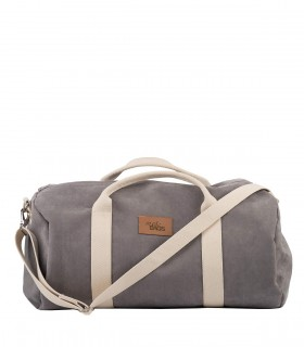 "SPORT AND TRAVEL BAG ""WEEKENDER"" ECO SUEDE GREY"