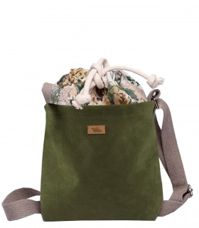 "CROSSBODY SMALL BAG ""DUO MINI"" KHAKI BLOOM"