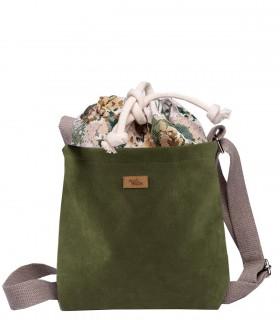 """Mała torebka """"DUO MINI"""" przez ramię, kolor khaki bloom"""