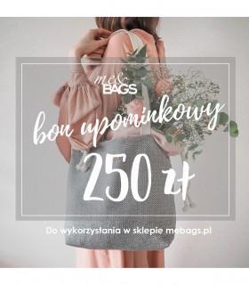 Bon podarunkowy - kwota 250 zł