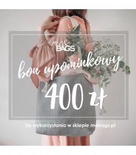 Bon podarunkowy - kwota 400 zł