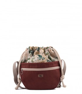 copy of Crossbody Bags ECO SUEDE BURGUNDY BLOOM