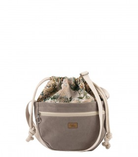 MINI CROSSBODY BAGS ECO SUEDE TAUPE BLOOM