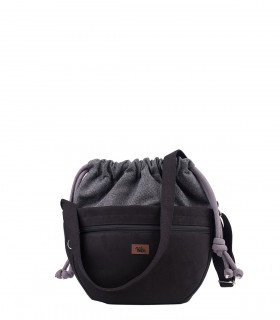MINI CROSSBODY BAGS ECO SUEDE BLACK