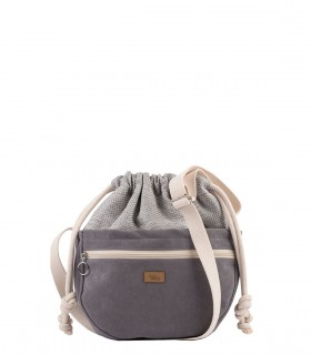 MINI CROSSBODY BAGS ECO SUEDE GREY