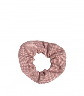 Tkaninowa gumka do włosów zero waste, różowa
