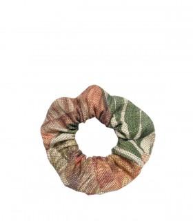 Tkaninowa gumka do włosów zero waste, w liście