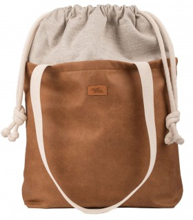 "SACK BAG ""DUO BAG""  ECO-LEATHER  HONEY COLOR"