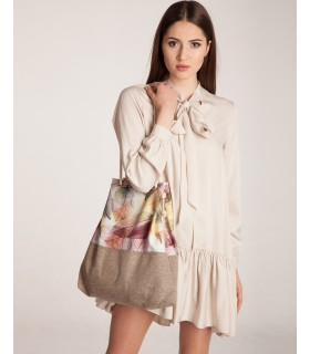Basic me 15 fabric handbag - leaves