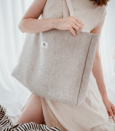ALL-IN BAG, tkaninowa torba na WSZYSTKO, kremowa
