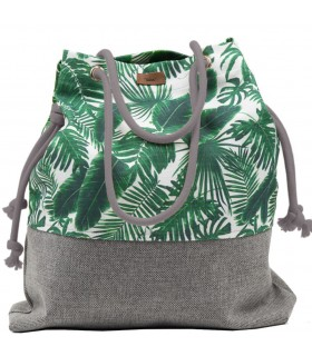 Basic me 15 fabric handbag - palm trees
