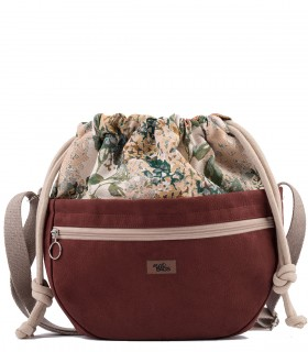 Crossbody Bags ECO SUEDE BURGUNDY BLOOM