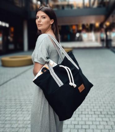"""Torebka shopper """"BAGGERKA"""", kolor czarny"""