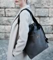 """copy of SACK BAG """"DUOBAG"""" eco suede black-ash"""