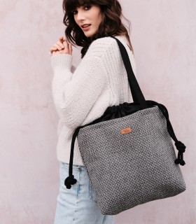 """DUOBAG"" fabric bag, gray melange"