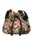 """Torebka przez ramię """"MINI BUCKET BAG"""" z żakardowej tkaniny w  kwiaty"""