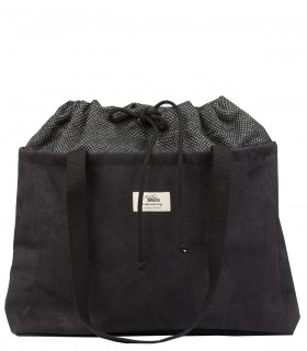 Black shopper bag with a laptop pocket