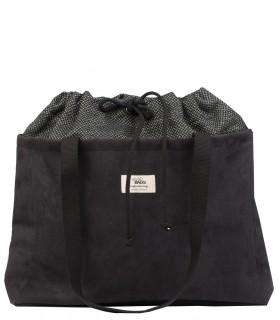 Torebka shopper z kieszenią na laptopa, kolor czarny