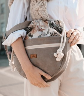 CROSSBODY BAGS ECO SUEDE TAUPE BLOOM