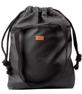 "SACK BAG ""DUOBAG"" eco leather black-ash"